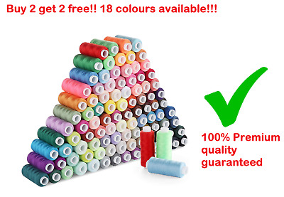 £2 • Buy 1000 Yard Premium Polyester Cotton Thread For Sewing. BUY 2 GET 2 FREE