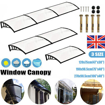 £47.99 • Buy Door Canopy Awning Shelter Front Back Outdoor Porch Patio Window Roof Rain Cover