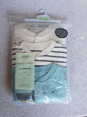£17 • Buy Brand New M&S Baby Boys Sleepsuits Bodysuits All In Ones Age 2-3 Years