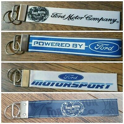 £3.99 • Buy FORD MOTOR CO. GENUINE PARTS POWERED BY FORD MOTORSPORT RACING Keyring Key Fob