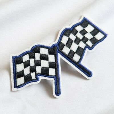 £1.74 • Buy Racing Flag Checkered Embroidered Sew On Iron On Patches Badge Applique Craft