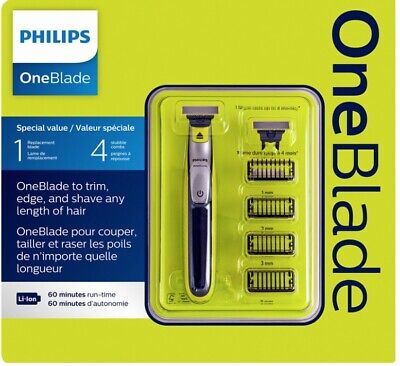 AU76.99 • Buy Philips OneBlade Trimer, Edger And Shaver QP2530/60 New