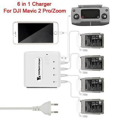 AU91.09 • Buy 6 In 1 Smart Charging Hub Adapter Multi Battery Charger For DJI Mavic 2 Pro/Zoom