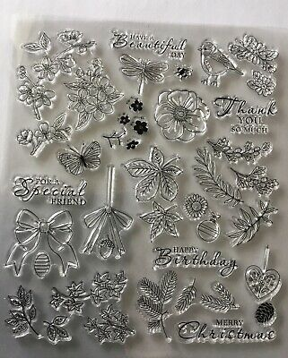 £4.50 • Buy Beautiful Set Of Foliage/floral Nature Set Of Clear Stamps