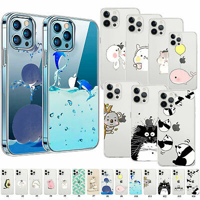 £3.99 • Buy Cartoon Animals Clear Jelly Case Cover For IPhone 12 11 XR XS MAX 6 7 8 IPod 6 7