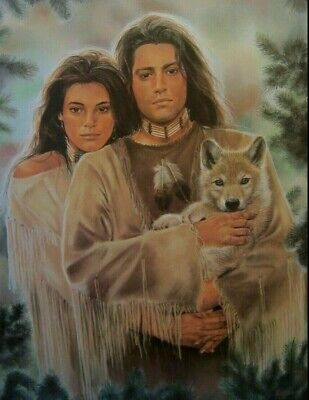 $39.95 • Buy Maija Little Wolf Signed & Numbered With Certificate Image Size 25.5  X 28