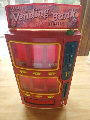 $39.99 • Buy Mars M&Ms Candy Vending Machine Bank 2004 Skittles Twix Snickers Milky Way Toy