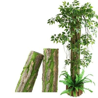 £4.59 • Buy Artificial Plant Tree Branches Leaves Bark Moss Landscape Garden Home Decor