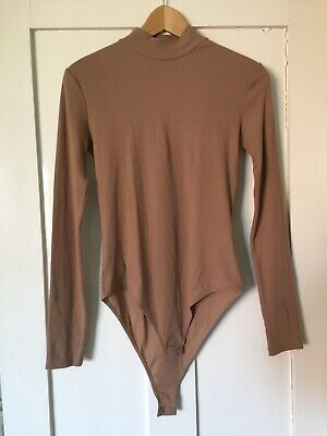 £6.50 • Buy H & M Bodysuit, Long Sleeves, Neutral/tan, New With Tags. Small, 95% Cotton