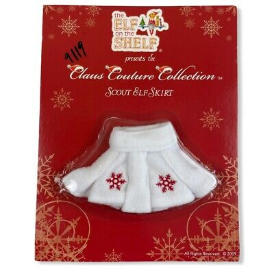 AU17.54 • Buy NEW Elf On The Shelf Clays Couture Collection Scout Elf Skirt White Snowflakes