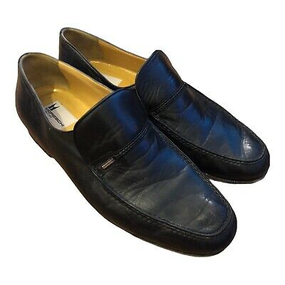 £49.80 • Buy Russell & Bromley Moreschi Mens Black Leather Slip On Shoes Size 8.5 Uk