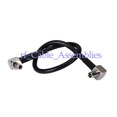 £4.04 • Buy CRC9 To TS9 Male Right Angle 3G 4G LTE Antenna Adapter Cable Pigtail RG174 15cm