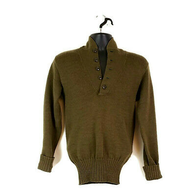 $30.57 • Buy Vintage Military Army Issued 100% Wool Sweater Mens Sz S Rudolph Knitting Mills