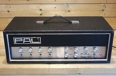 $ CDN214.44 • Buy Vintage FAL Super 100 Guitar / PA Amplifier With 4 Inputs & 3 Outlets