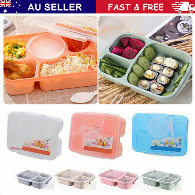 AU16.69 • Buy Adult Kids Lunch Box Food Container Bento Storage Boxes Microwave Heating Home~