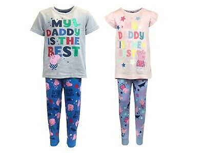 £7.95 • Buy Peppa And George Pyjamas My Daddy Is The Best T Shirt And Trouser Summer PJs