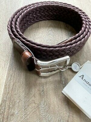 £42.99 • Buy Bnwt - Andersons Belt - Braided Woven Cord & Leather - 38  (100) - Italy - £90