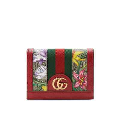 AU516.32 • Buy Gucci Ophidia GG Flora Card Case Wallet In Red 523155 92YBC 8722