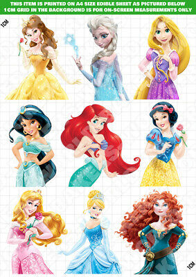 £6.14 • Buy Disney Princess Characters Edible Cake Topper Decoration ICING / WAFER