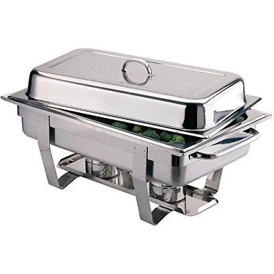 £77.59 • Buy Milan Chafing Set Food Warmer In Stainless Steel - 635 X 317.5 X 102 Mm - 9L 2pc
