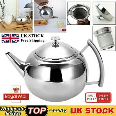 £8.89 • Buy Stainless Steel Teapot Container Coffee Pot Drink Flip Lid Pot Catering Kitchen