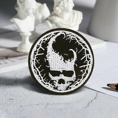£1.74 • Buy Skull Devil Embroidered Sew On Iron On Patch Badge Fabric Craft Transfer Clothes