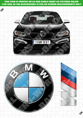 $ CDN10.53 • Buy Personalised BMW M3 M5 Edible Cake Topper ICING / WAFER