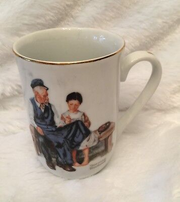 $ CDN12.44 • Buy Norman Rockwell Museum Mug Cup The Lighthouse Keeper's Daughter 1982 Vintage