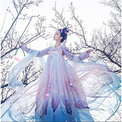 $ CDN28.31 • Buy Women Hanfu Outfits Chinese Style Tang Dynasty Daily Clothes Fairy Long Modern
