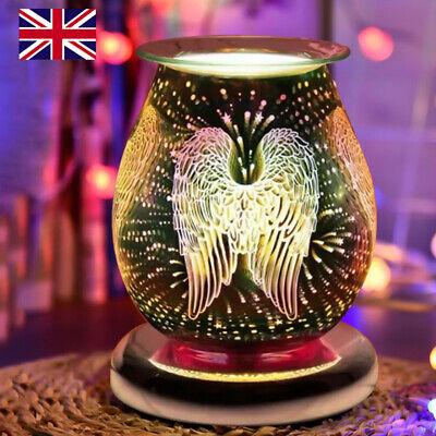 £16.49 • Buy UK Angel Wings Desire Design Glass Aroma Wax Melt Oil Burner Electric Touch Lamp