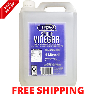 £8.60 • Buy Pride Distilled White Vinegar 5ltr With 5% Acidity Cleaning Cooking Pickling UK