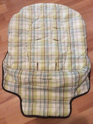 £14.19 • Buy Graco High Chair Insert Cover Part Replacement Brown Green White