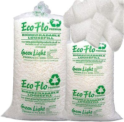 £12.99 • Buy Ecoflo Biodegradable Loose Void Fill Packaging Packing Peanuts Chips 1cft - 60cf