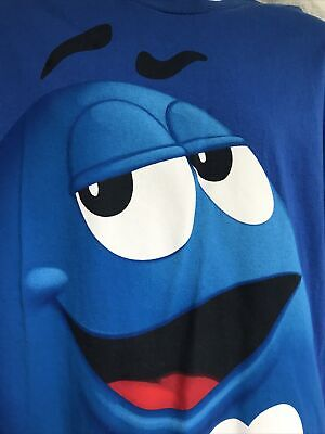 $17 • Buy Giant Graphic M&M's Chocolate Candies Candy Official Blue T Shirt Size L