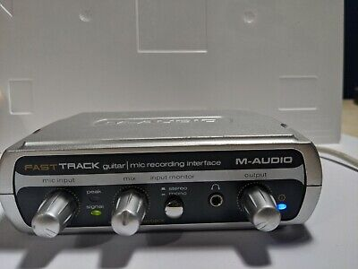 $55.95 • Buy M-Audio Fast Track FastTrack Guitar - Mic Recording Interface With USB A-B Cable