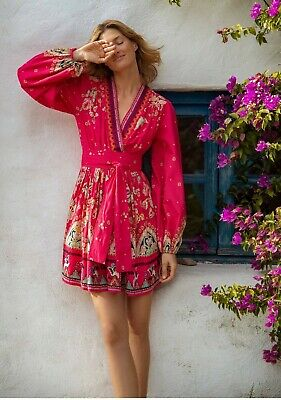 $ CDN125.25 • Buy Anthropologie Embroidered Embellished Dress Size Small