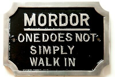 £16.99 • Buy MORDOR One Does Not Simply Walk In Lord Of The Rings Tolkien LOR Cast Sign