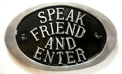 £16.99 • Buy Speak Friend And Enter Gandalf Mordor Lord Of The Rings Tolkien LOR Cast Sign
