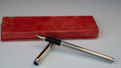 £70 • Buy Vintage AURORA MARCO POLO Sterling Silver 925 Fountain Pen Gold Plated Trim