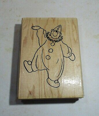 £5 • Buy Wooden Rubber Stamp Clown Bear By Hobby Art Used Condition
