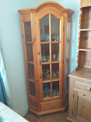 £69.99 • Buy Pine Glass Fronted Corner Display Cabinet