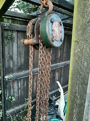 £60 • Buy Vintage FELCO Block And Tackle Hoist Winch Chain SWL 5 CWT