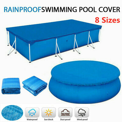 £12.89 • Buy Rectangle Round Swimming Pool Cover For Fast Set Family Garden Outdoor 8Sizes UK
