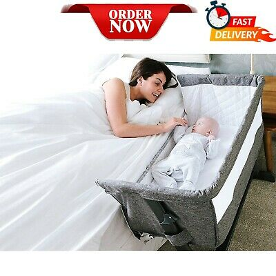 £97.99 • Buy Next To Me Baby Infant Cozi Sleeper Cot Crib Drop Side New Born Cotbed Grey NEW