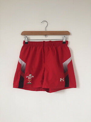 £12.08 • Buy Wales Cymru 2013 Home Rugby Shorts Under Armour Size Small