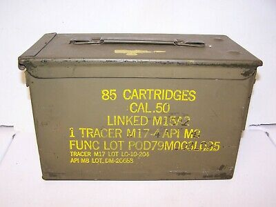 $19.99 • Buy 85 CT 50 Cal M2A1 AMMO CAN M15A2 W/ TRACER