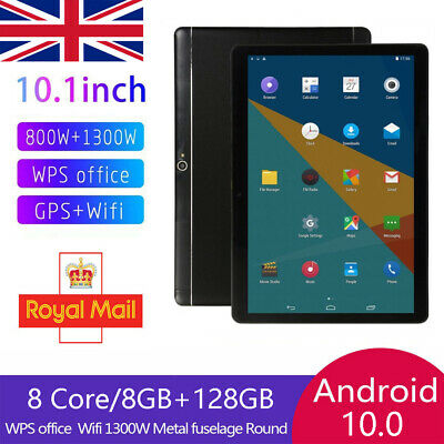 £55.99 • Buy 10.1 Inch Android 10.0 Tablet PC 8+128GB 8 Core Dual SIM Camera Wifi Phablet UK