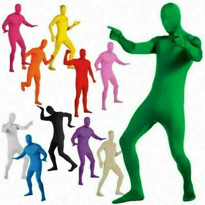 £9.99 • Buy Party Costume Dress Invisible Morph Suit Adults Kid Full Body Spandex Jumpsuit