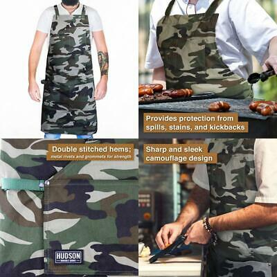 $40.43 • Buy Man Chef Apron Professional Grade Kitchen BBQ Grill Kitchen Cooking Accessory