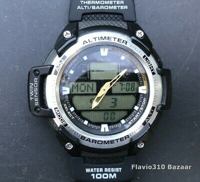 £42.44 • Buy CASIO SGW-400H (5176) Thermometer Altimeter Barometer 51mm Watch - New Battery